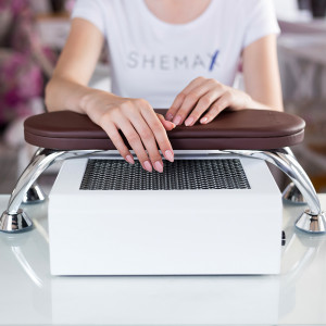 Brown manicure stand for SheMax